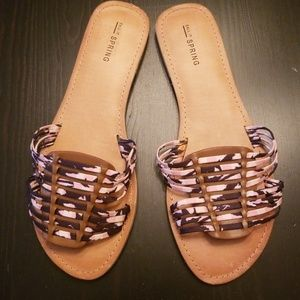 Call It Spring Slides Sandals size 9 Vegan
